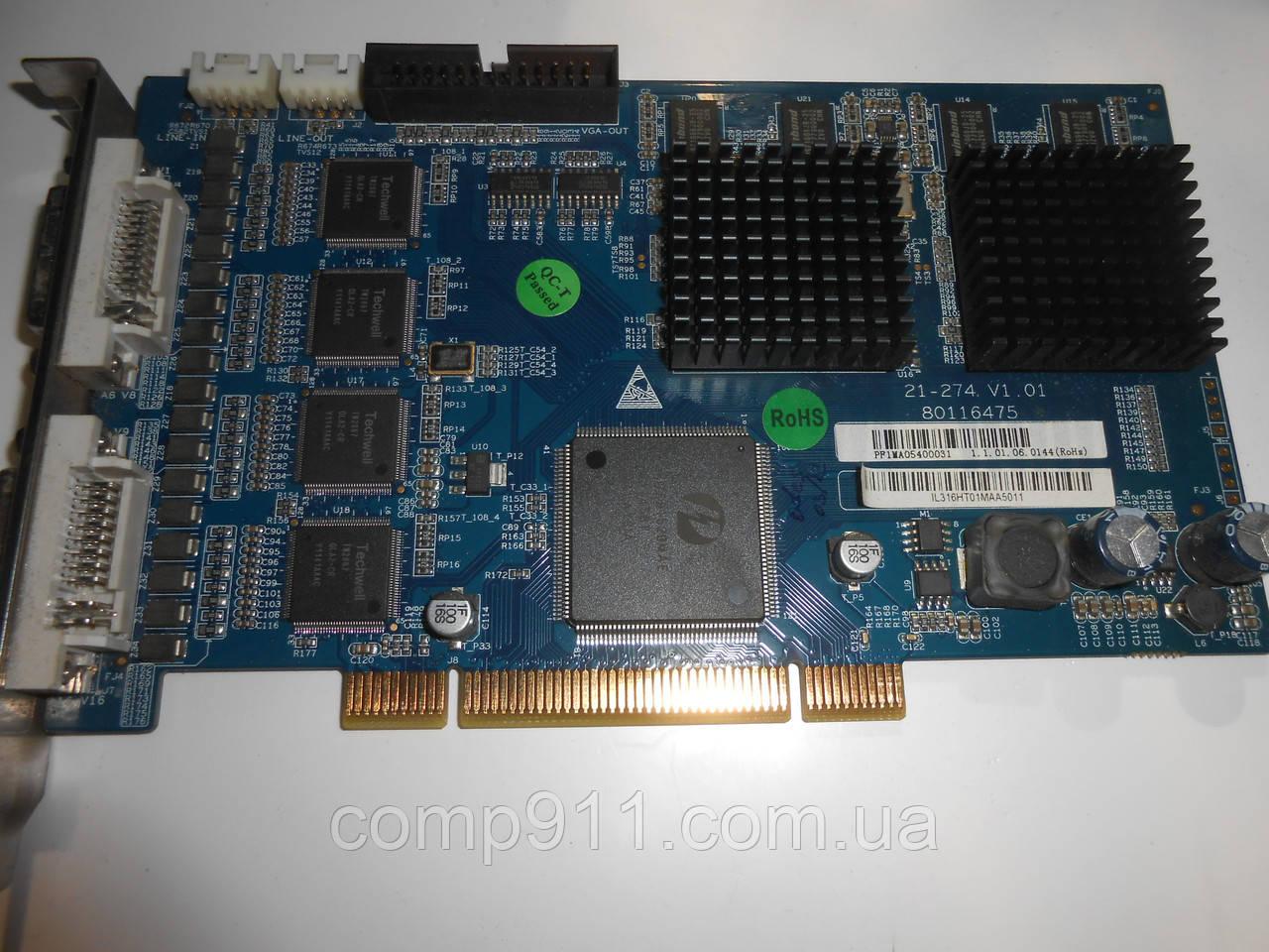 Плати видеорегистрации PCI 16-ти канальная ILDVR 3016HT
