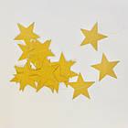 Гирлянда со звездочками глиттерный картон золото 2,5 метра, фото 2