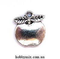 """Метал. подвеска """"яблоко"""" серебро   (1,5х1,7 см) 8 шт в уп."""