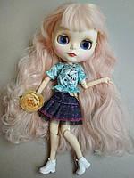 Шарнирная кукла Айси с длинными волосами + 10 пар кистей + одежда и обувь в подарок