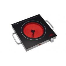 Плита настольная (инфракрасная) MONTE MT-2109 (черное стекло, 1кон. - 2.4кВт,D 21см)