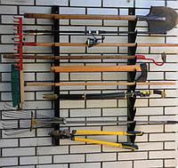 Полка металлическая для садового инструмента на 7 ед.