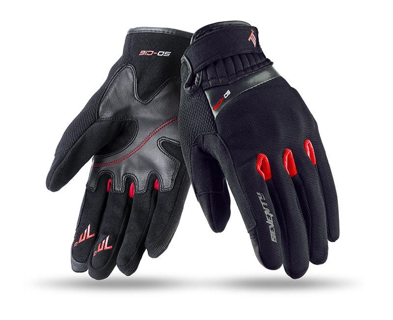 Мотоперчатки SEVENTY SD-C16 SUMMER URBAN MAN BLACK/RED