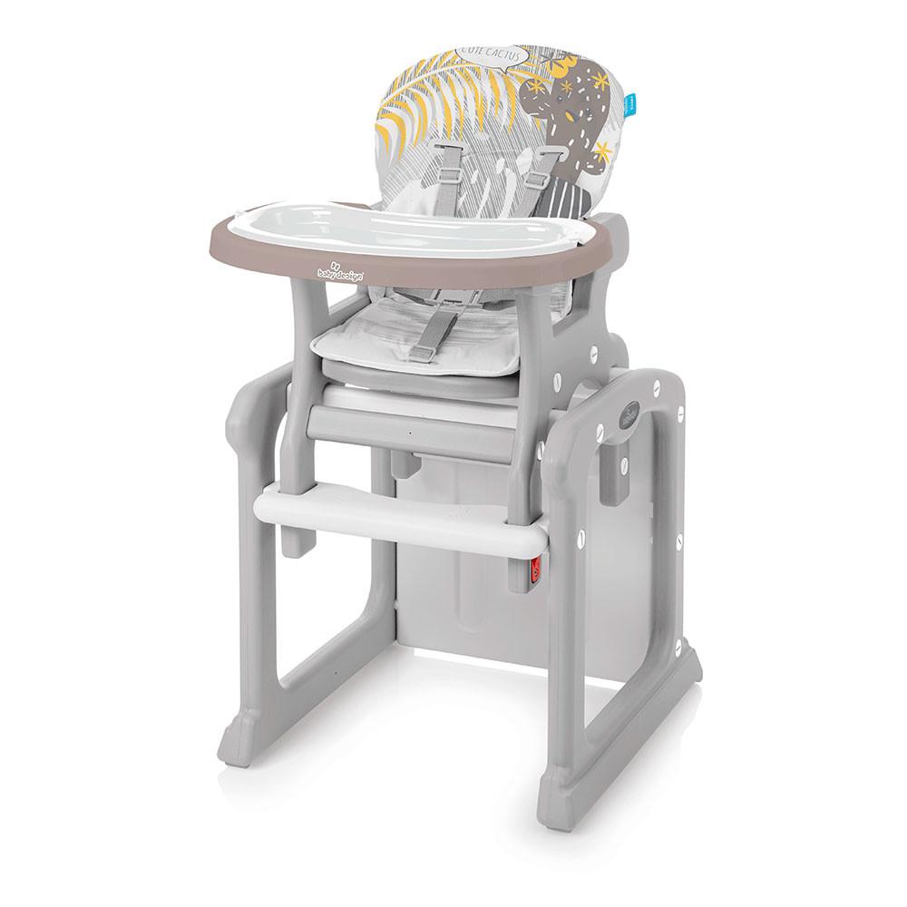 Стульчик для кормления Baby Design Candy / Beige (09) new