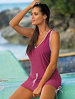 Туника-платье на пляж M 313 ELSA (S - L в расцветках), фото 1