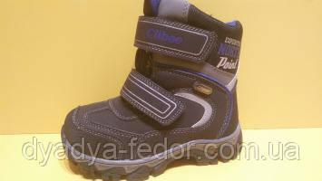 Детская зимняя обувь Термообувь Clibee Польша p151 Для мальчиков Черные размеры 27_32