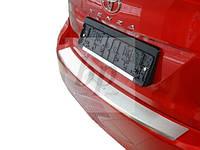 Защитная хром накладка на задний бампер с загибом Toyota venza FL (тойота венза 2013+)