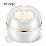 Питательный Ночной крем для выравнивания тона лица с жемчужной пудрой Bioaqua Beauty Muscle Run Lady Cream