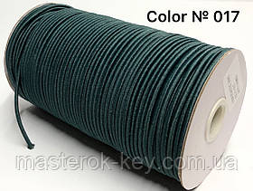 Гумка капелюшна 3мм Колір темно-зелений 017