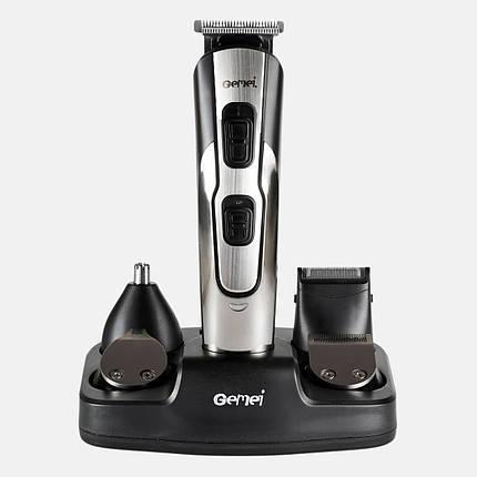 Машинка для стрижки GEMEI GM-592 10 в 1, Универсальная машинка для стрижки, Триммер для носа и ушей, бороды, фото 2