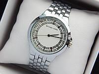 Женские кварцевые наручные часы Michael Kors (Майкл Корс) серебро, белый циферблат, фото 1