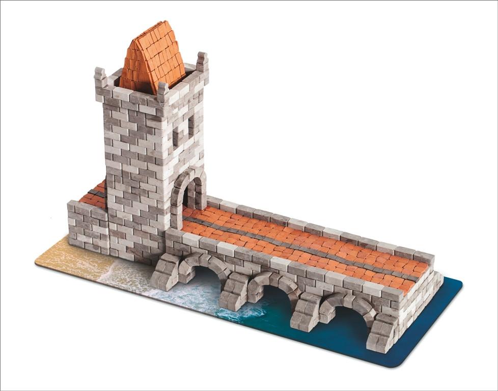 Мост керамический конструктор | 1140 деталей | Країна замків та фортець (Україна)