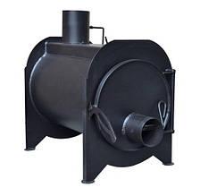 Буржуйка на дровах Kozak с камерой дожига вторичных газов