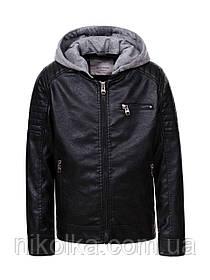 Куртка кожзам для мальчиков оптом, Glo-story, 98-128 рр., арт. BPY-9262