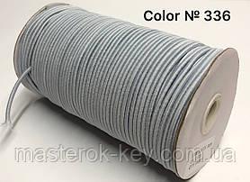 Гумка капелюшна 3мм Колір світло-сірий 336