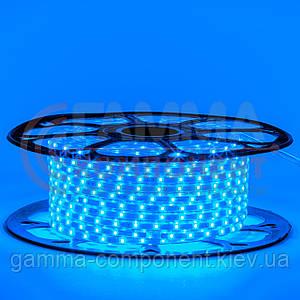 Светодиодная герметичная лента 220В синяя smd 2835-48 лед/м 6 Вт/м