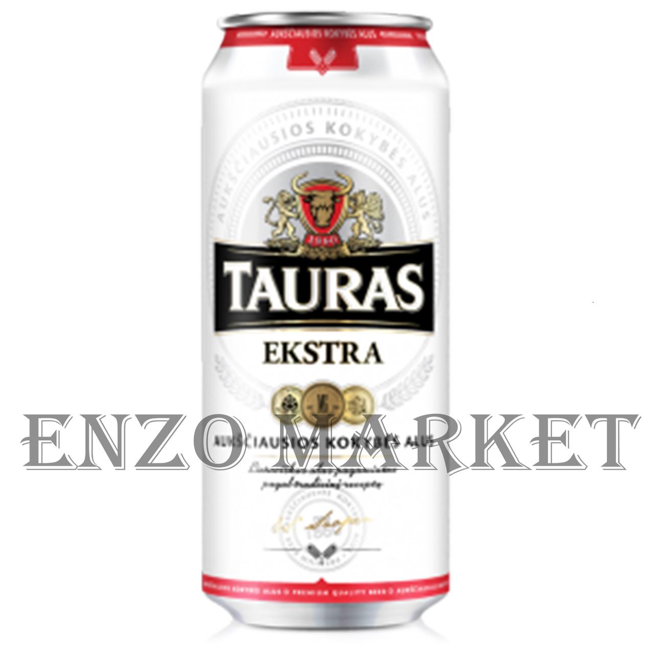 Пиво Tauras Extra, 0,5 литра ЖБ