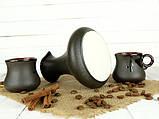 Турка Аладін керамічна з дерев'яною ручкою в наборі з чашками 300 мл, фото 2