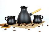 Турка Того керамічна з дерев'яною ручкою в наборі з чашками 500 мл, фото 2