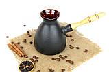 Турка Того керамічна з дерев'яною ручкою 500 мл, фото 2