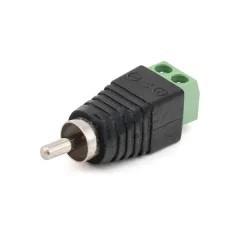 Разъем RCA-M штекер с винтовыми клеммами под кабель