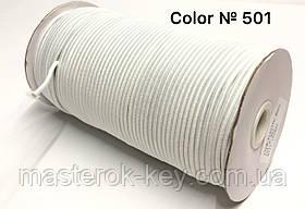Гумка капелюшна 3мм Колір білий 501