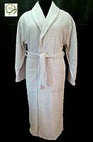 Махровый жаккардовый  женский халат, светло серый 100% Хлопок Турция