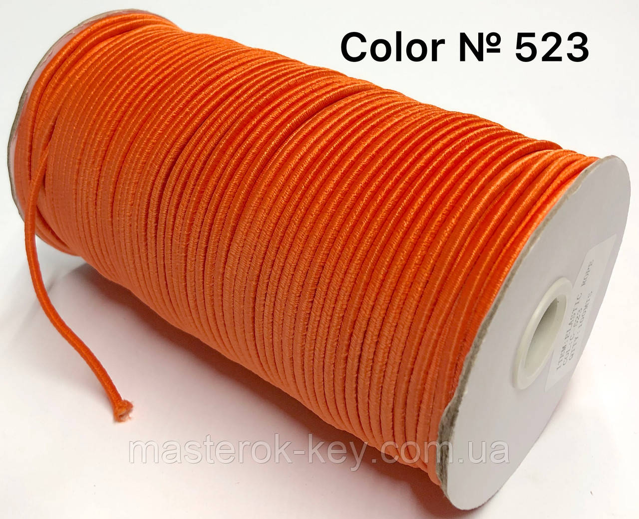 Резинка шляпная 3мм Цвет оранжевый 523