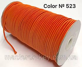 Гумка капелюшна 3мм Колір помаранчевий 523