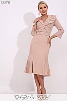Платье с широким отложным воротником Разные цвета