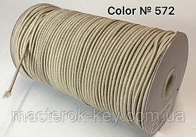 Гумка капелюшна 3мм Колір бежевий 572