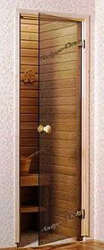 Двері для лазні бронза 70х190 Скло 8мм