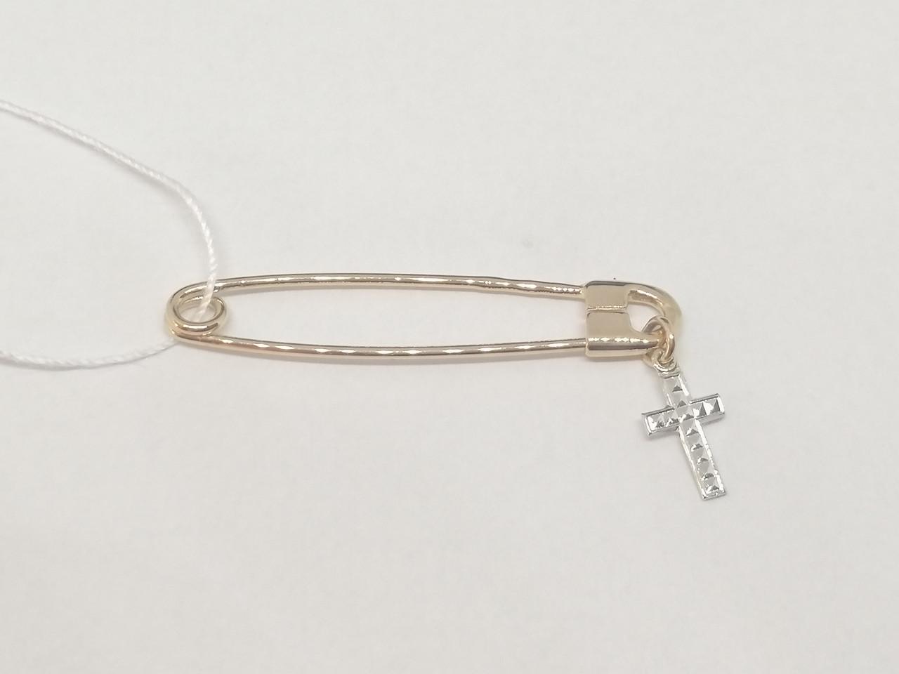 Золота брошка-шпилька. Артикул 660061