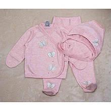 Детский комплект для девочки Одежда для девочек 0-2 Interkids Украины 2395 Розовый