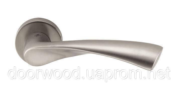 Дверная ручка Colombo Design Flessa CB51 матовый никель 50мм розетта