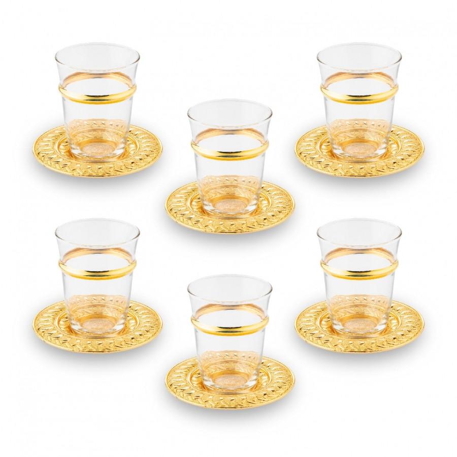 Набор чайных стаканов Doreline Золотистый Ажур на 6 персон