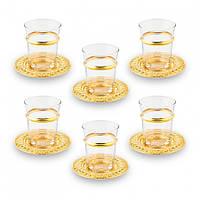 Набор чайных стаканов Doreline Золотистый Ажур на 6 персон, фото 1