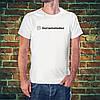 Белая футболка со своим аккаунтом инстаграм
