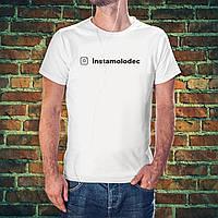 Белая футболка со своим аккаунтом инстаграм, фото 1