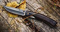 Нож складной темно-коричневого цвета, крупный, с длинным клинком,с изогнутой рукояткой из палисандра, фото 1