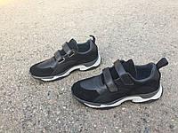 Кожаные чёрные кроссовки для подростка мальчика ТМ BISTFOR (Бістфор, Бистфор) 36-41р