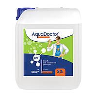 Жидкое средство для снижения pH AquaDoctor pH Minus (Серная 35%) 20 л., химия для бассейнов