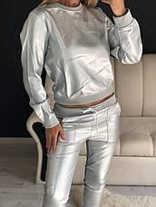 Женский костюм из эко кожи, фото 3