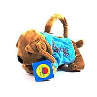 Маленька дитяча сумочка - гаманець собачка плюш (для малюків - для садочка і прогулянок) 1518-A1