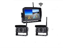 """Автомобильный цифровой монитор 7,0"""" с беспроводными камерами для грузовиков с функцией записи"""