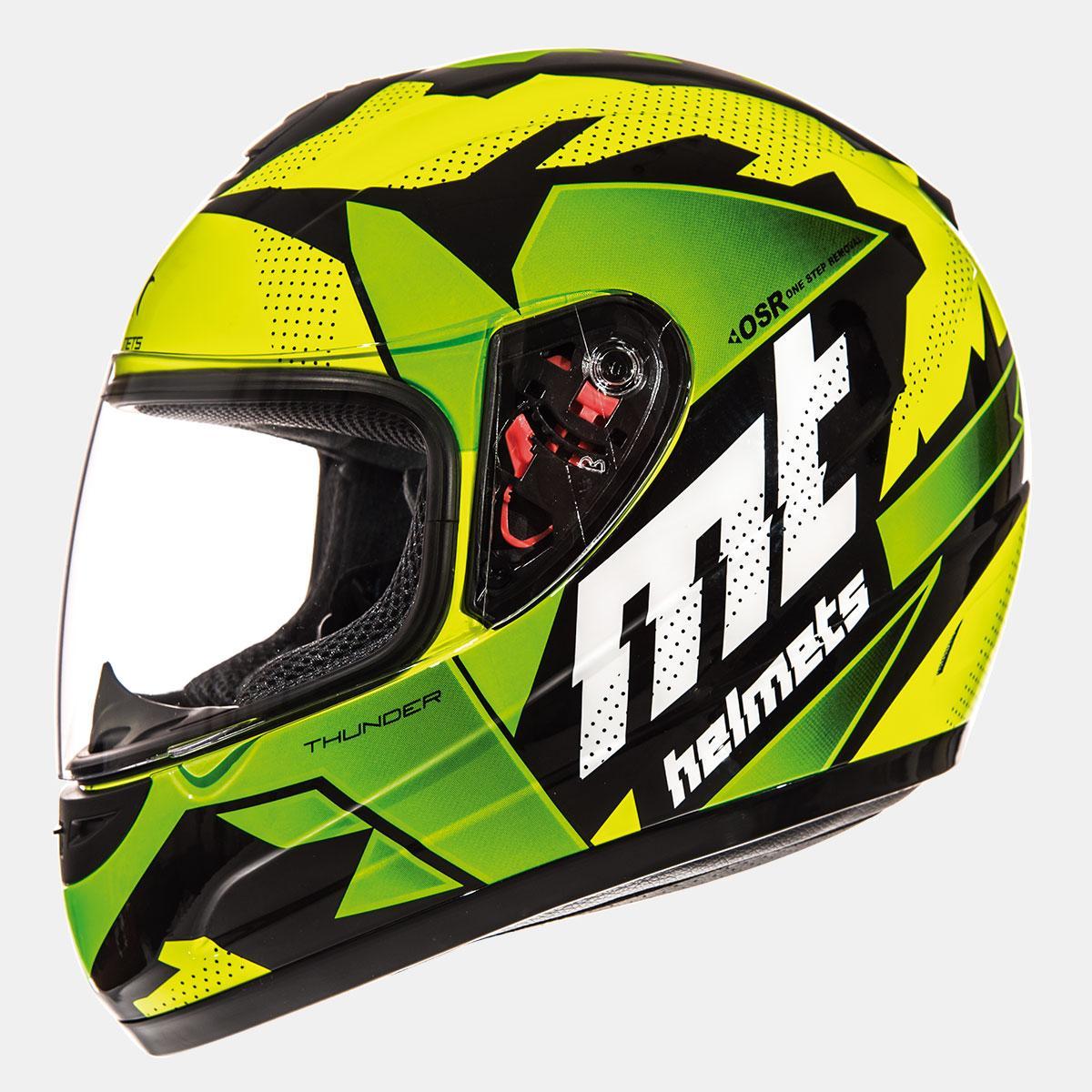 Мотошлем MT Thunder Kid Thorn Green