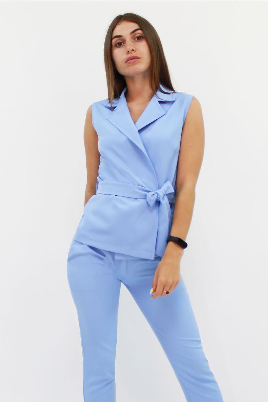 S, M, L, XL | Стильний брючний костюм Archer, блакитний