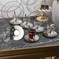 Чайные армуды Восточный с позолоченым кантом 6 штук, фото 1