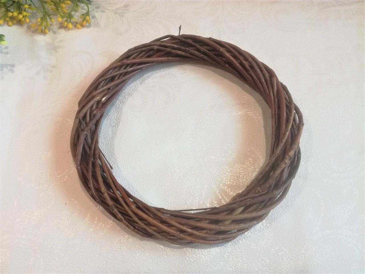 Венок из лозы 20 см, коричневый