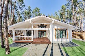 Дом деревянный из клееного профилированного бруса
